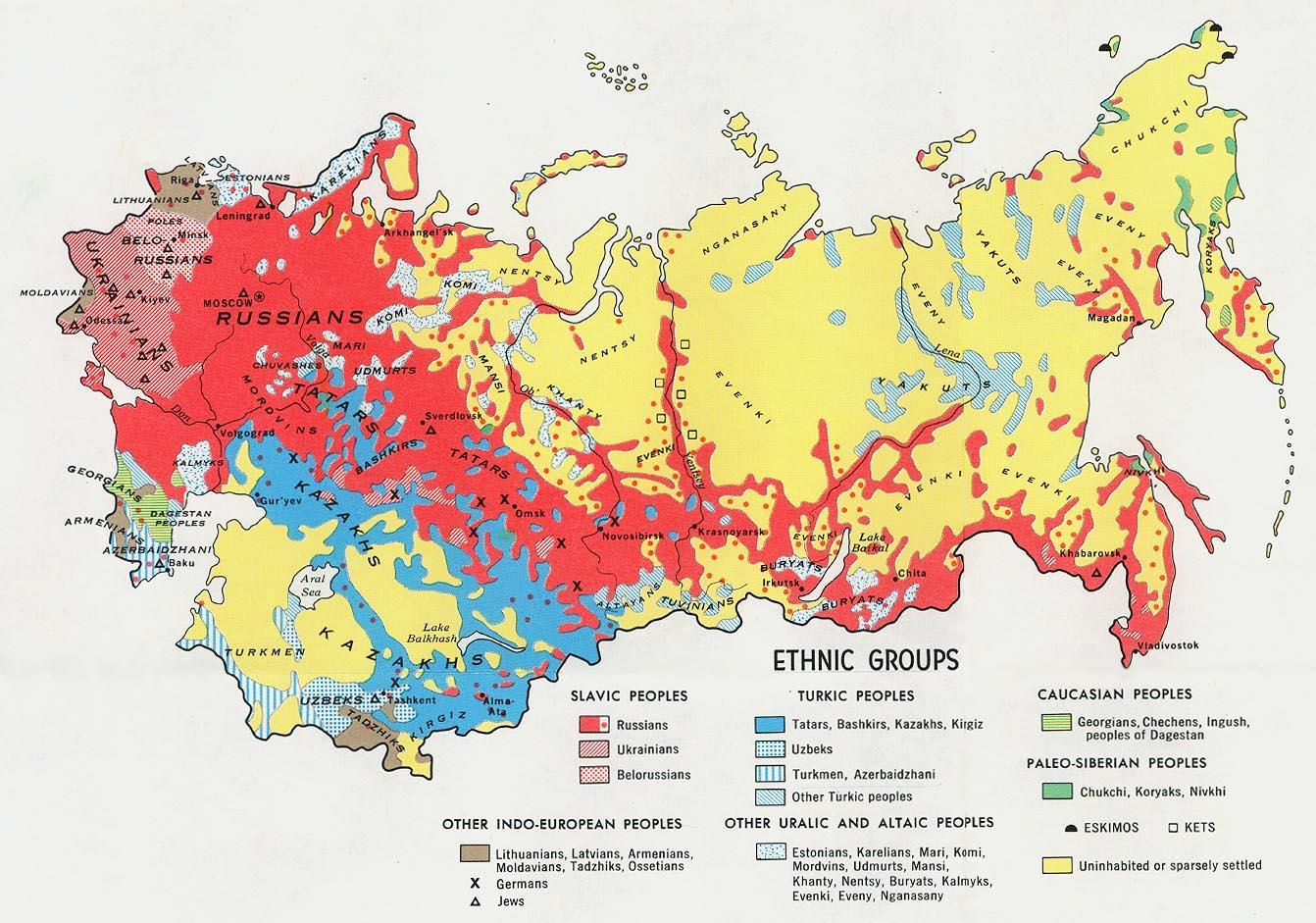 Nabozenska Mapa Ruska Rusko Nabozenstvi Mapa Vychodni Evropa