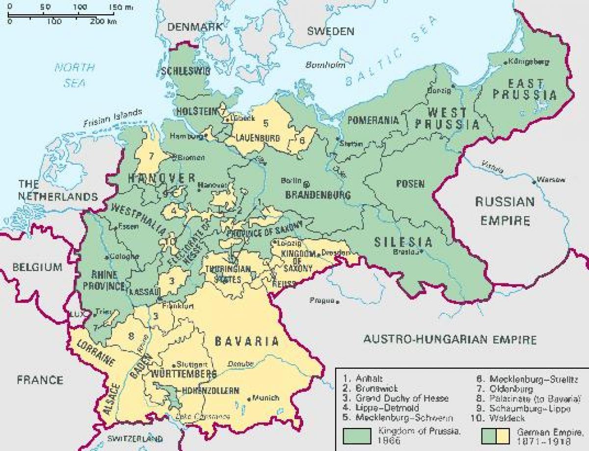 Prusko Mapa Mapa Pruska Vychodni Evropa Evropa